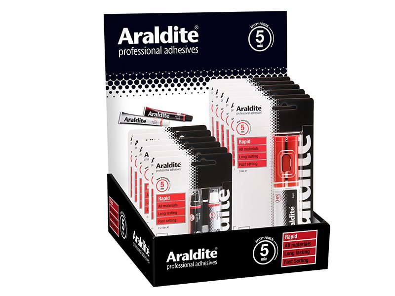 Araldite Rapid Promo Counter Display