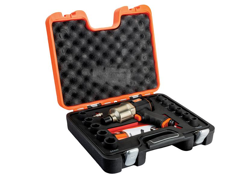 Impact Wrench Kit with Sockets 1/2in 10 to 24mm