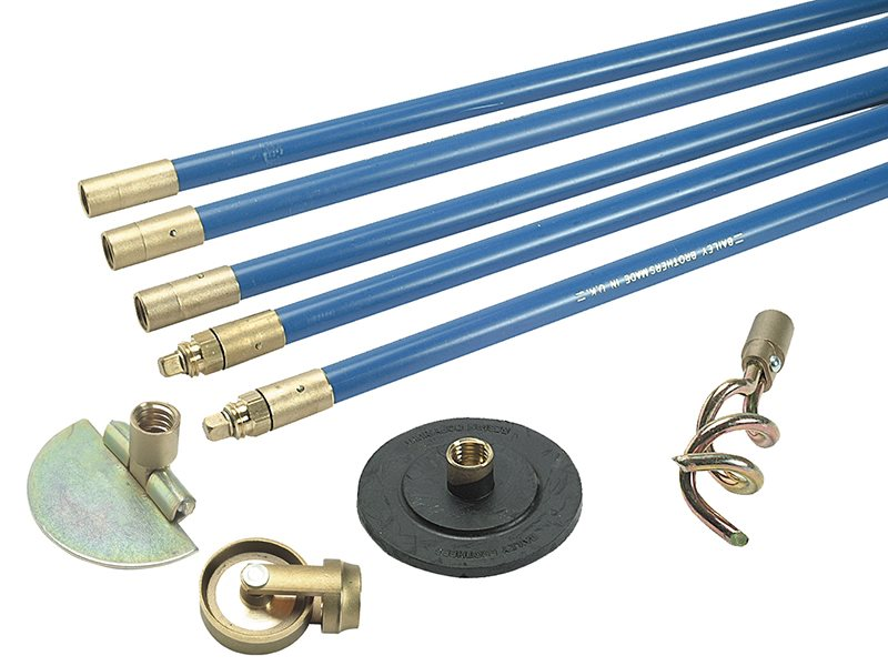 1324 Lockfast 3/4in Drain Rod Set 4 Tools