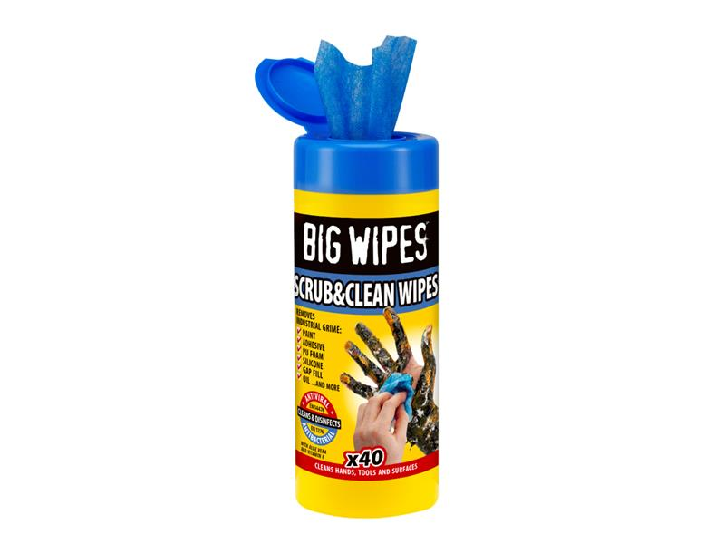Scrub & Clean Wipes (Tub 40)