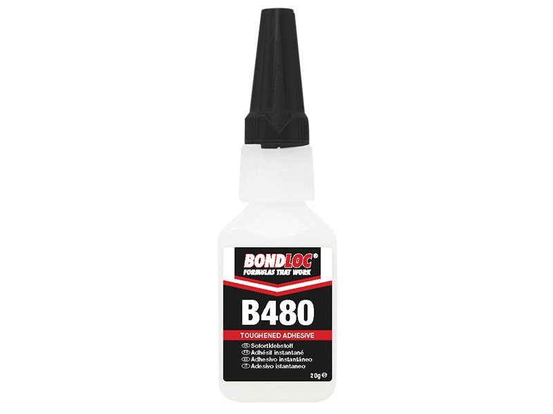 B480 Black Rubber Toughened Cyanoacrylate 20g