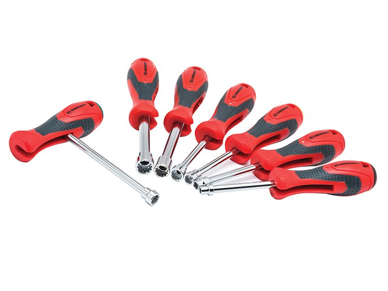 Universal Quick Convert T-Handle Nut Driver Set of 7