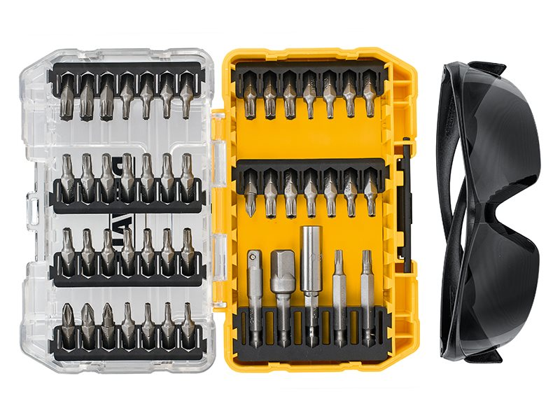 DT70704 Screwdriving Set, 47 Piece + Safety Glasses