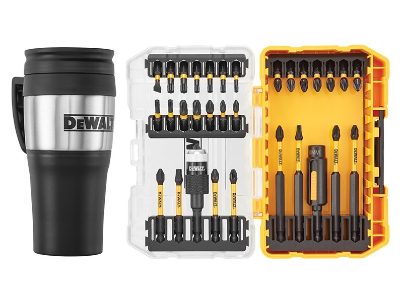 DT70736TM FLEXTORQ™ Screwdriving Set, 32 Piece + Mug