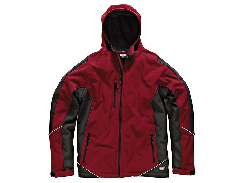 Two Tone Softshell Red/Black Jacket