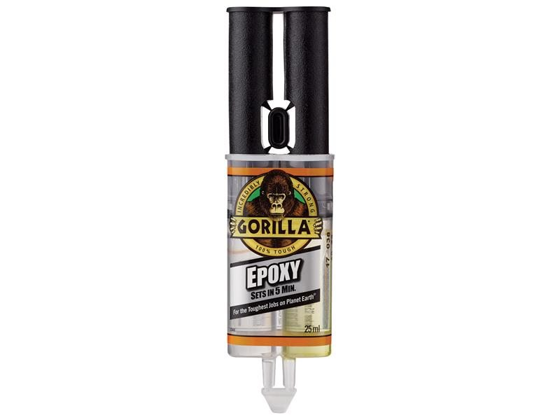Gorilla 5 Min 2-Part Epoxy Syringe 25ml