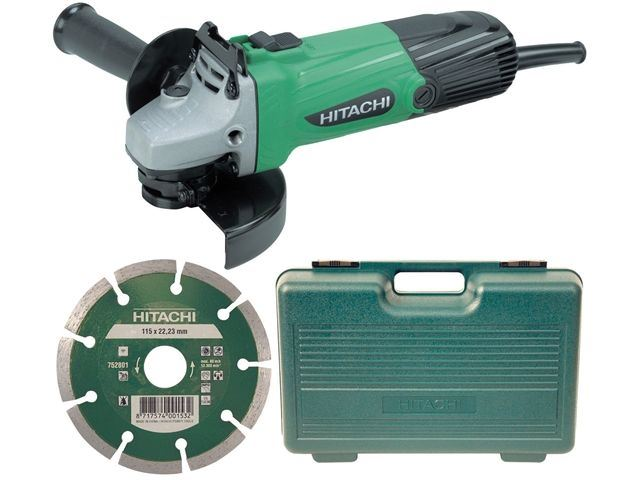 G12SSCD Angle Grinder In Kitbox 580 Watt