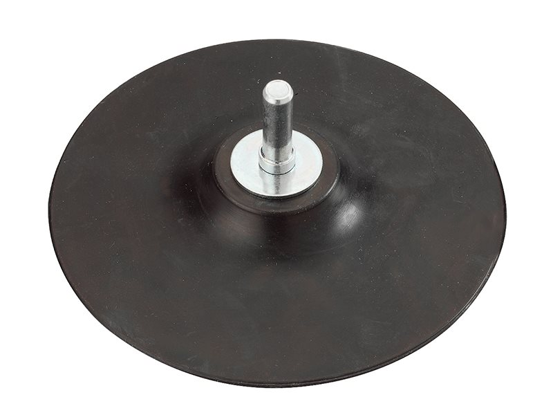 Backing Pad Rubber 125 x 8mm Arbor