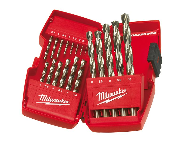 HSS-G THUNDERWEB Metal Drill Bit Set  19 Piece 1-10mm