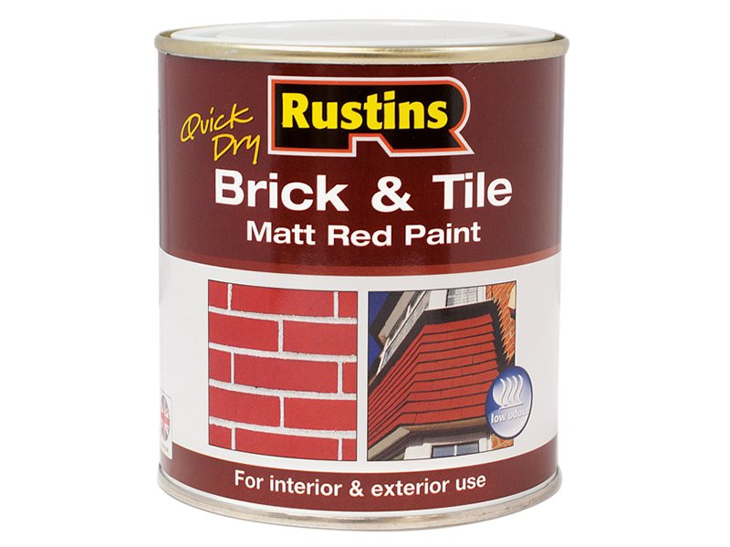 Quick Dry Brick & Tile Paint Matt Red