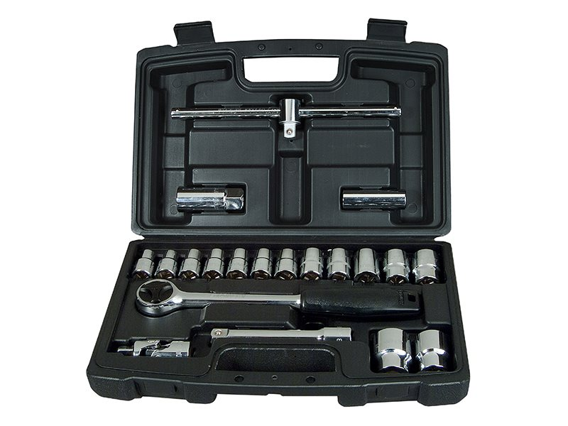 Socket Set of 20 Metric 1/2in Drive