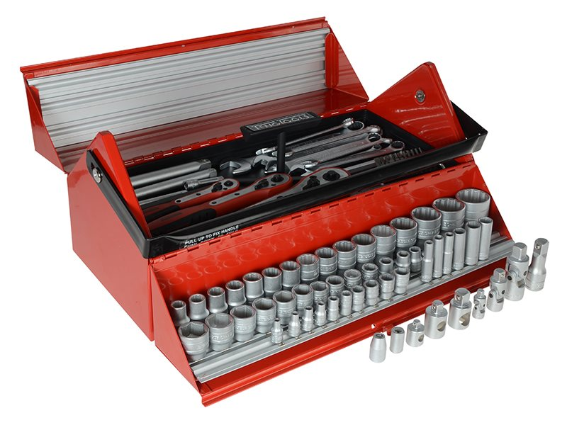 TC187 Mega Rosso Tool Kit Set of 187 1/4 3/8 & 1/2in