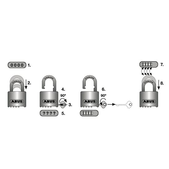 additional image for 190/60 60mm Heavy-Duty Combination Padlock Closed Shackle (4-Digit) Carded