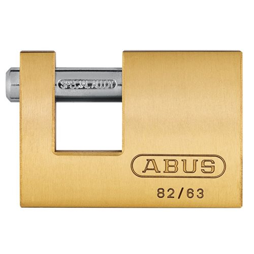 ABUS Mechanical 82 Series Monoblock Brass Shutter Padlock