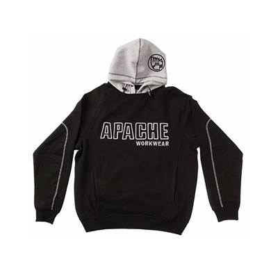 Apache Black / Grey Hooded Sweatshirt