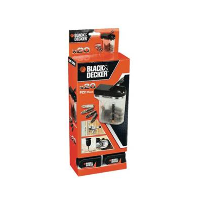 Black & Decker Box 20 PZ2 25mm Bits In Merchandiser of 20