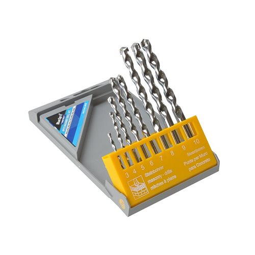 BlueSpot Tools Masonry Drill Set, 8 Piece 3-10mm