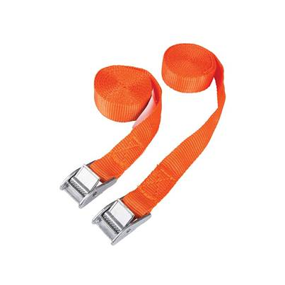 BlueSpot Tools Cam Buckle Tie-Down Straps Twin Pack 2.5m