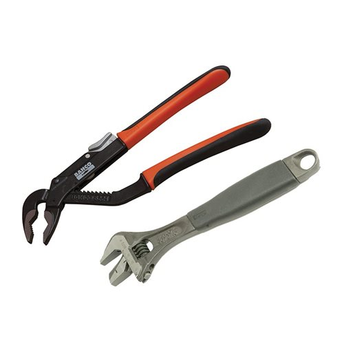 Bahco 9873 Adjustable & Slip Joint Pliers Set 2 Piece