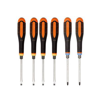 Bahco ERGO™ Through Blade Screwdriver Set, 6 Piece