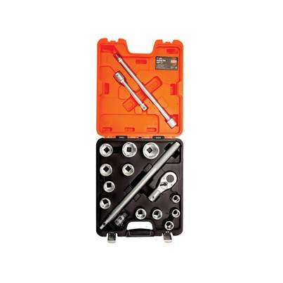 Bahco SLX17 Socket Set of 17 Metric 3/4in Drive
