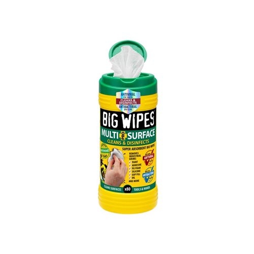 Big Wipes 4x4 Multi-Surface Cleaning Wipes (Tub 80)