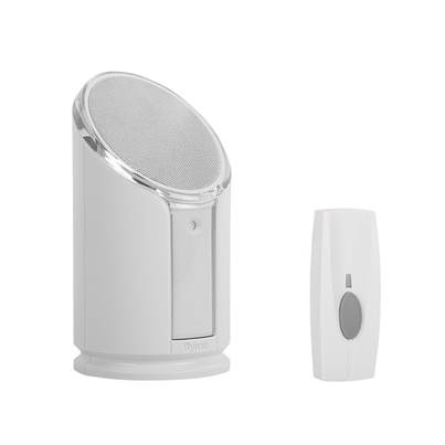 Byron BY301 Wireless Doorbell with Portable Extra Loud & Flashing Chime 100m