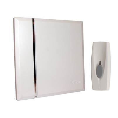 Byron BY401W Wireless Doorbell with Portable Chime 60m