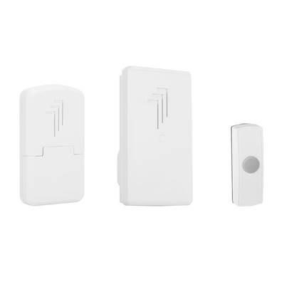 Byron DB312 Wireless Doorbell Kit with Portable & Plug In Chimes 30m