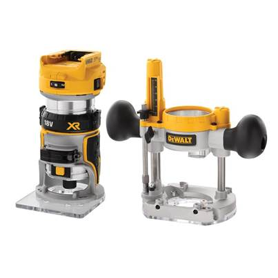 DEWALT DCW604NT XR 1/4in Twin Base Router 18V Bare Unit