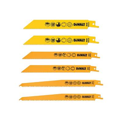 DEWALT DT2444 Reciprocating Saw Blade Set 6 Piece