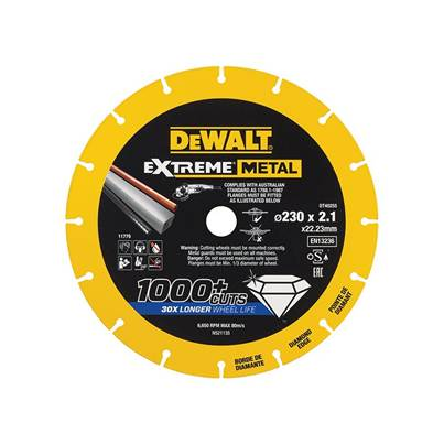 DEWALT Extreme Metal Cut Off Saw Blade 230 x 22.23 x 2.10mm