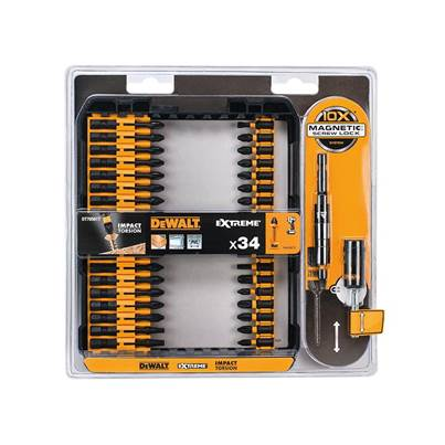 DEWALT DT70561T Impact Torsion Set + 3in Holder, 34 Piece