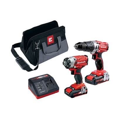 Einhell Power X-Change Combi & Impact Driver Twin Pack 18V 2 x 2.0Ah Li-ion