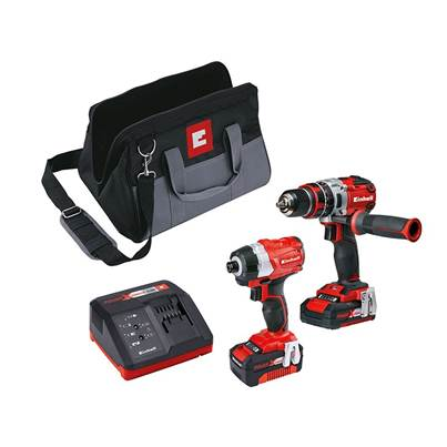 Einhell Power-X-Change Brushless Twin Pack 18V 1 x 2.0Ah & 1 x 4.0Ah Li-ion