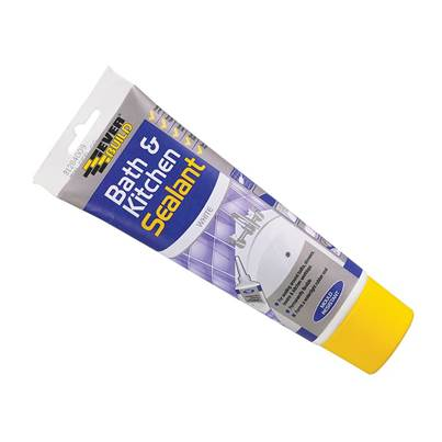Everbuild Bath & Kitchen Seal White Easi Squeeze 200ml