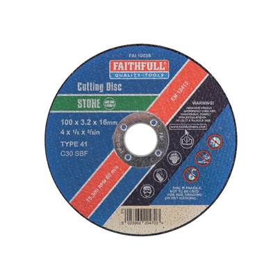 Faithfull Stone Cut Off Disc
