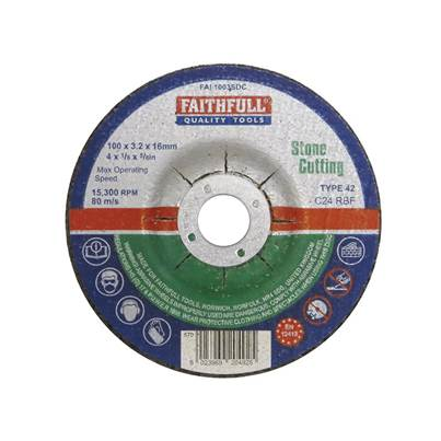 Faithfull Depressed Centre Stone Cutting Disc