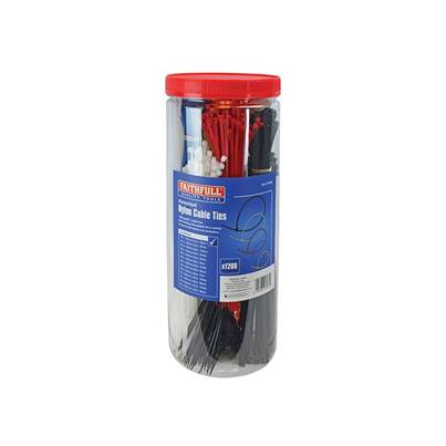 Faithfull Cable Ties (Barrel Pack 1200)