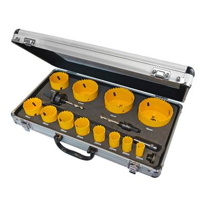 Faithfull Universal Varipitch Holesaw Kit 16 Piece 16-76mm