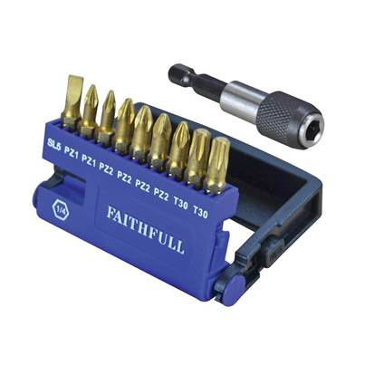Faithfull Diamond Bit Set S2 Torsion 10 Piece