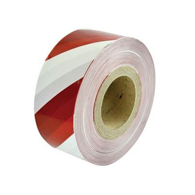 Faithfull Heavy-Duty Barrier Tape Red & White 70mm x 250m