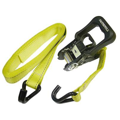 Faithfull Ratchet Tie-Downs J Hook 5m x 32mm Breaking Strain 1320kg/daN 2 Piece