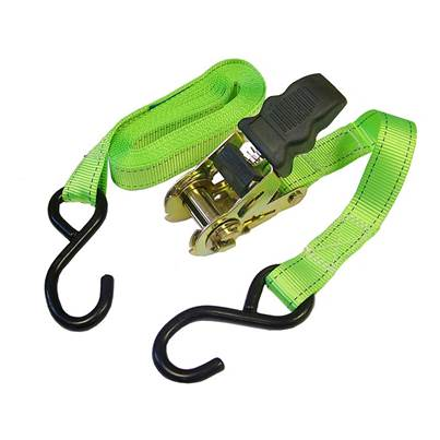 Faithfull Ratchet Tie-Downs S Hook 5m x 25mm Breaking Strain 600kg/daN 2 Piece