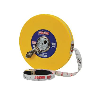 Faithfull Closed ABS Fibreglass Long Tape