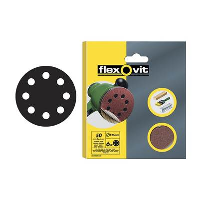 Flexovit Hook & Loop Sanding Discs 125mm
