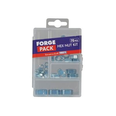 ForgeFix Hexagon Nut Kit ForgePack 70 Piece