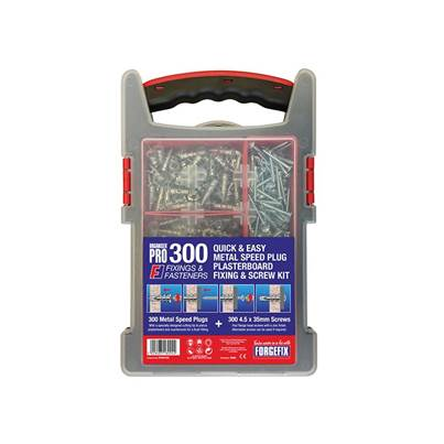 ForgeFix Speed Plug Zinc Plasterboard Fixing Kit 300 Piece