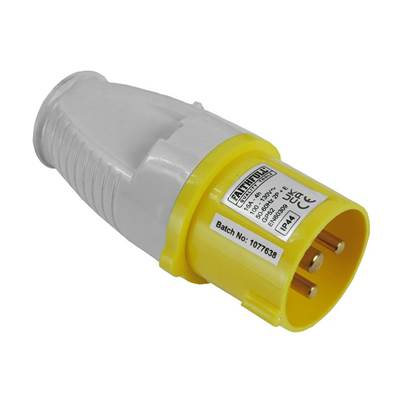 Faithfull Power Plus Yellow Plug, 110 Volt