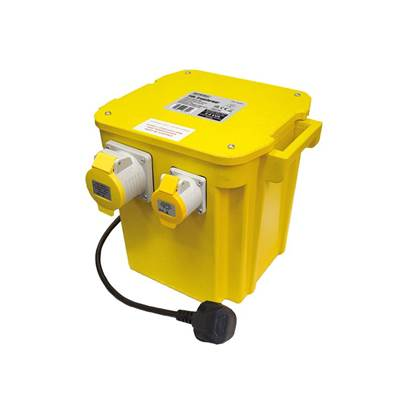 Faithfull Power Plus 5kVA Triple Outlet Transformer